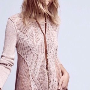 Gorgeous Anthropologie Moth Cable Knit Sweater